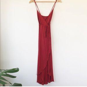 Vintage Wrap Midi Dress